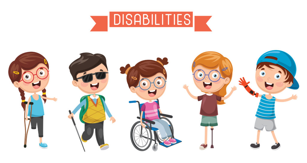 Disabled children illustrated